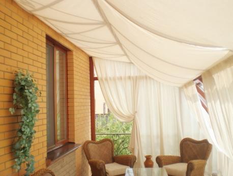 Как пошить шторы для беседки