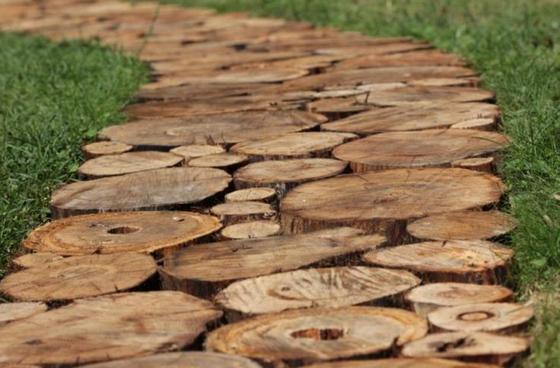 Тротуар из дерева