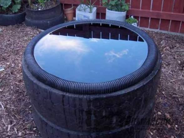 Бассейн для дачи своими руками из покрышки 925