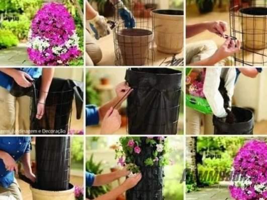 Цветники вертикальные своими руками фото