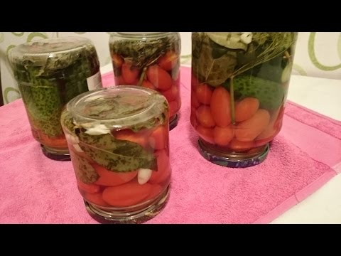Рецепт маринование помидоры с огурцами