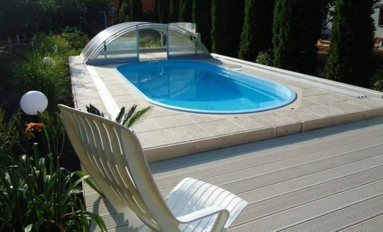 Как оформить бассейн на даче фото и видео