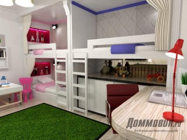 Дизайн детских комнат для разнополых детей фото