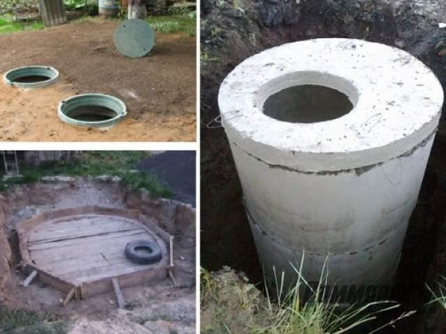 Сливная яма в частном доме из колец