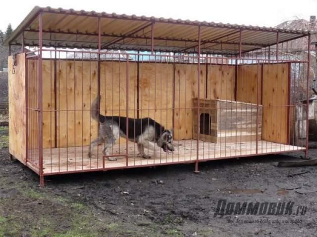Вольеры для собак своими руками фото