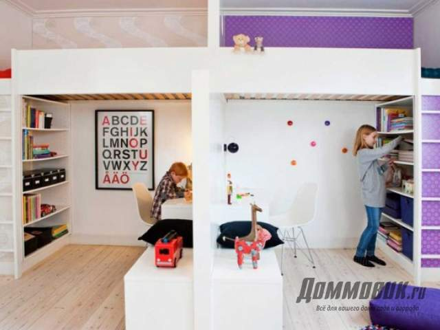 Дизайн маленькой детской разнополым детям
