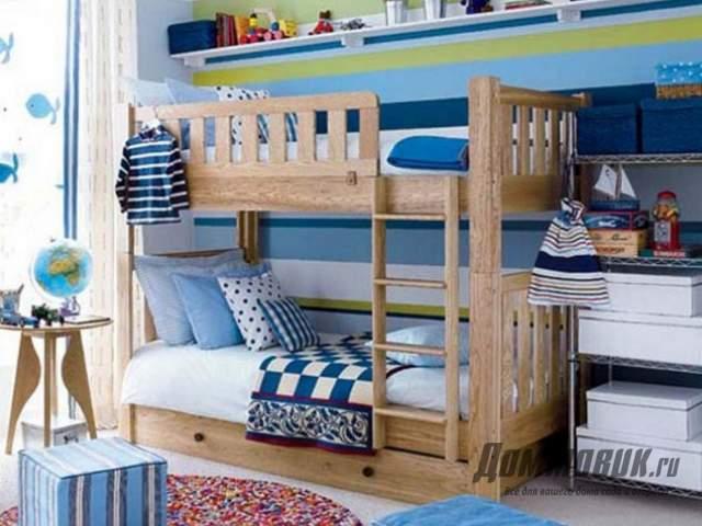 Дизайн маленькой детской двухъярусная кровать