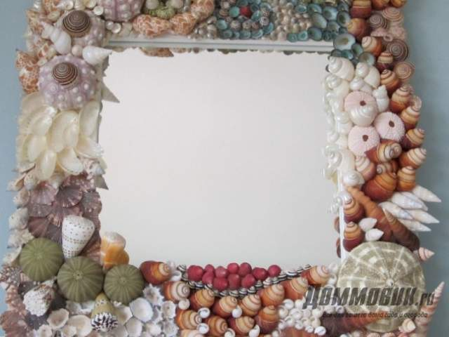 Декор зеркала в ванной
