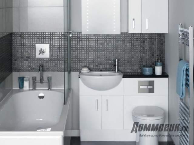 Современный дизайн маленькой ванны