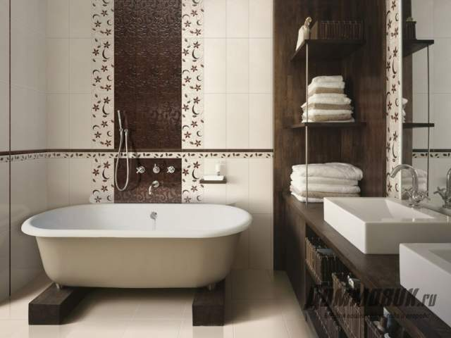 Интерьер загородного дома ванная