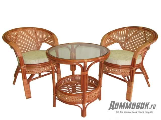 садовая мебель из ротанга стул и стол