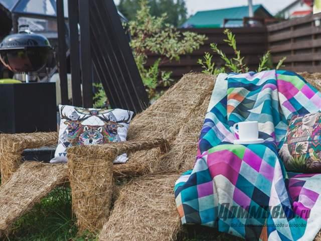 Мебель для дачи и сада из травы