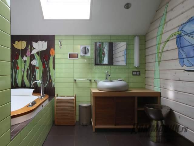 Дизайн загородного дома ванна