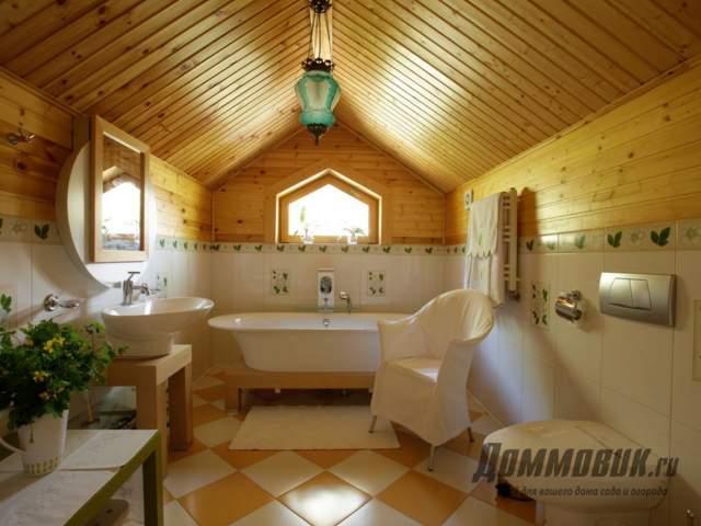 Дизайн загородного дома ванная