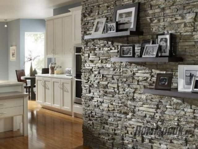 Декоративный камень в интерьере фото