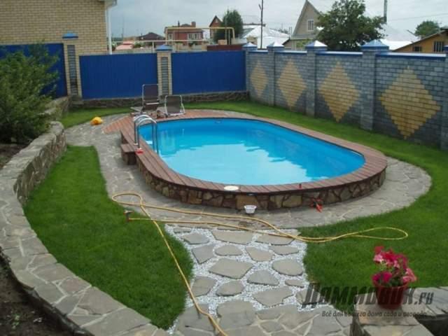 Как обустроить каркасный бассейн на даче результат
