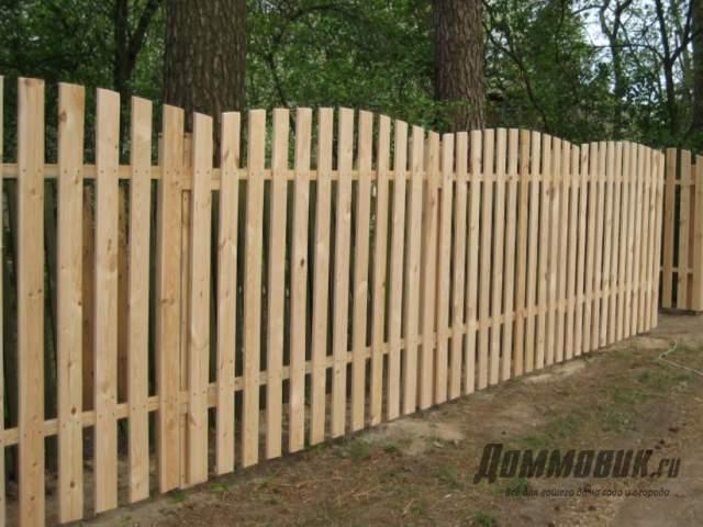 Как выбрать забор для дачи из дерева