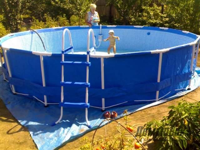 Как установить каркасный бассейн на даче самостоятельно