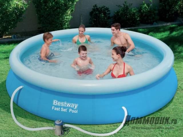 Как быстро установить надувной бассейн на даче