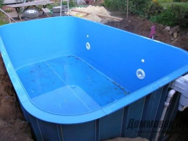 Поэтапная установка пластикового бассейна на даче своими руками