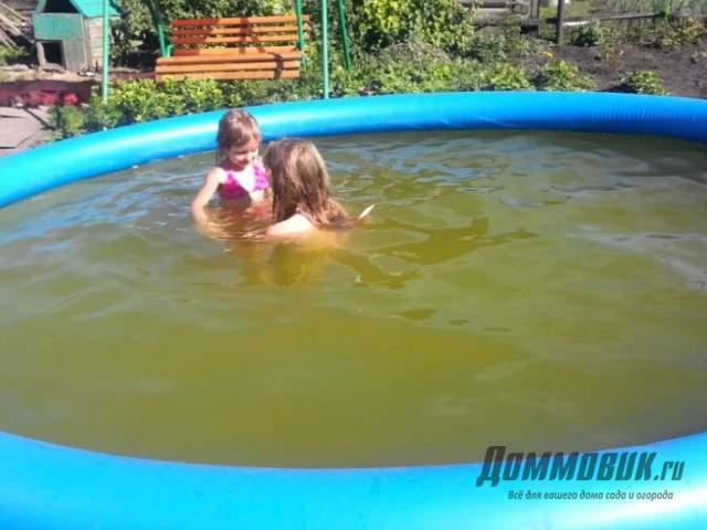 Очистка воды в бассейне на даче своими руками