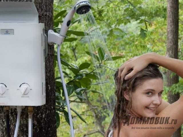 Душ на даче с водонагревателем своими руками как правильно сделать