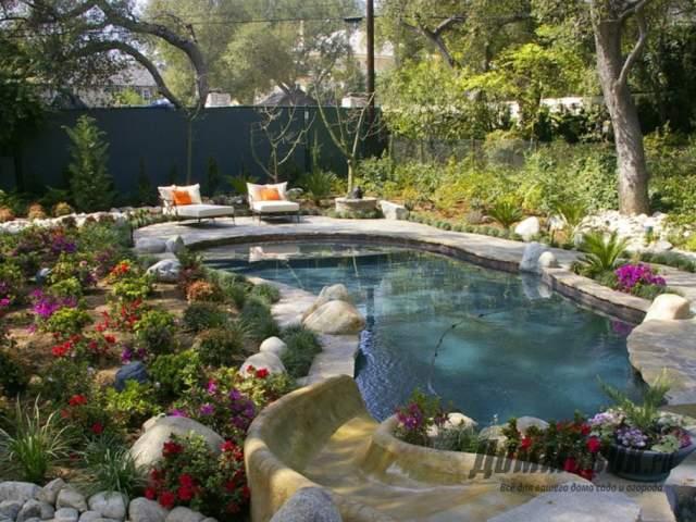 Оформление бассейна на даче своими руками