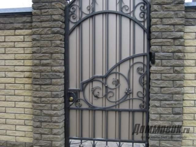 Ворота с калиткой для дачи своими руками как сделать