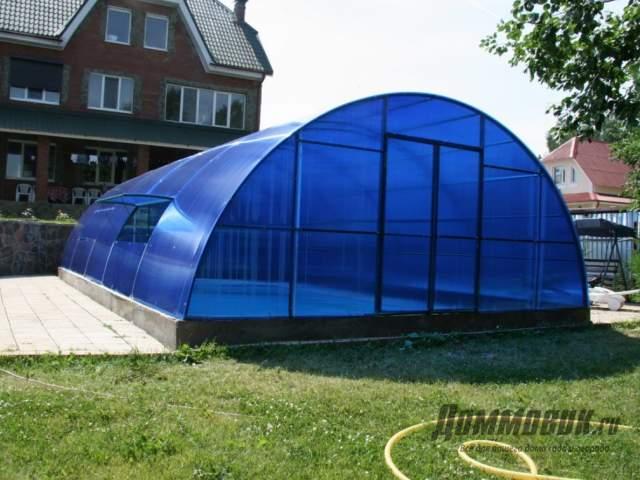 Как оформить каркасный бассейн на даче фото готового участка