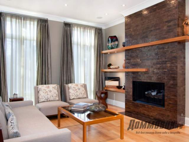 Дизайн комнаты с красивым электрическим камином