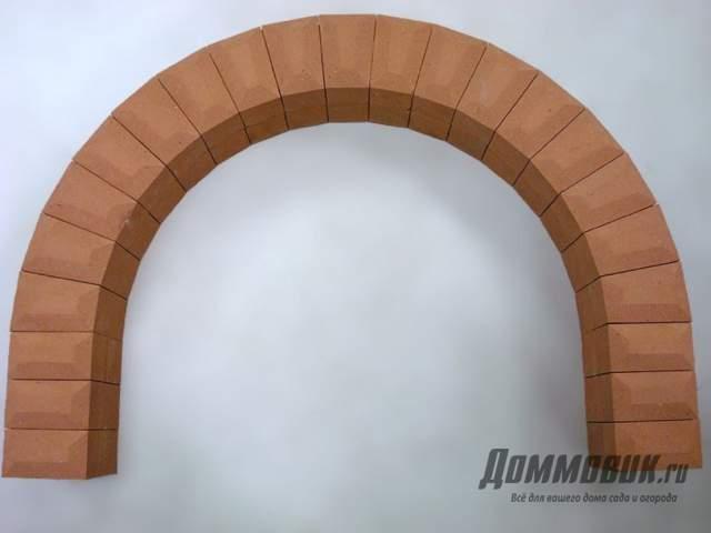 Арка камина из кирпича - как создать