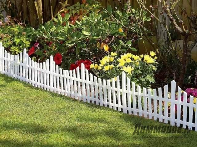 Садовый забор своими руками фото готовой конструкции