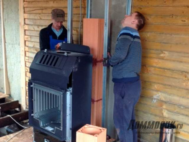 Как устанавливать печь камин в доме самостоятельно