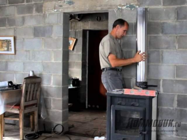 Как правильно установить печь камин в доме