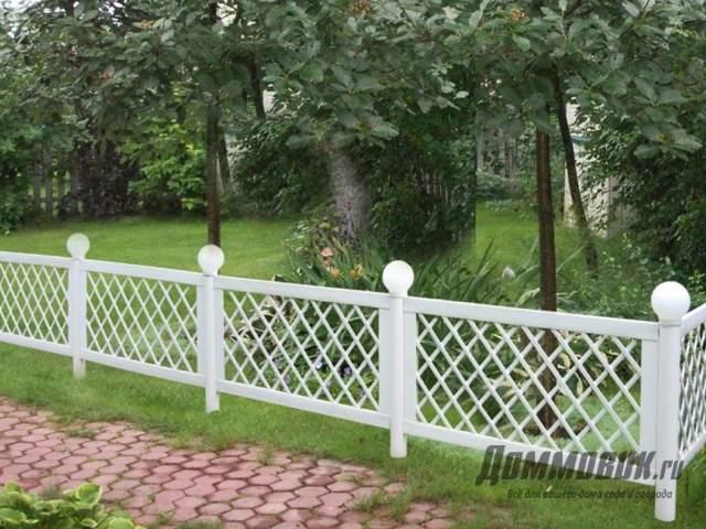 Декоративный забор для дачи своими руками как создать