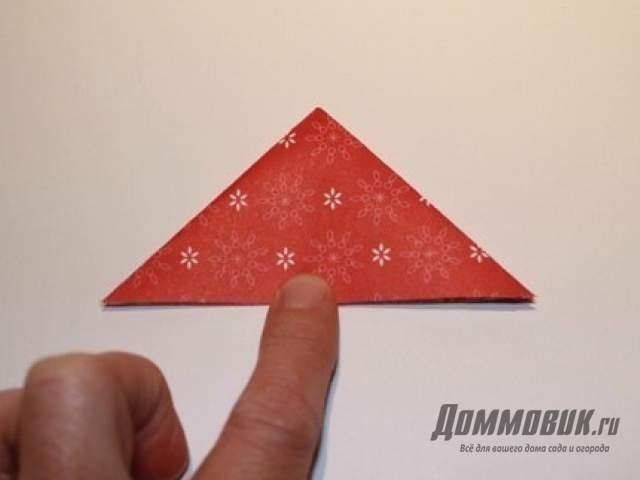 Новогодняя елка оригами
