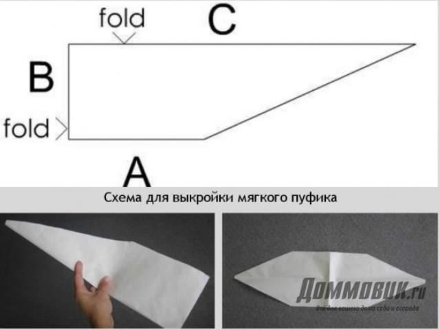 Выкройка для пуфика из ткани