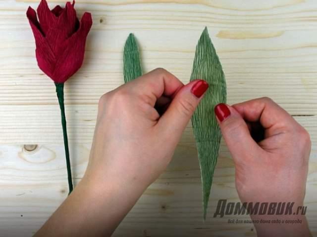 Выполнение декоративных листочков