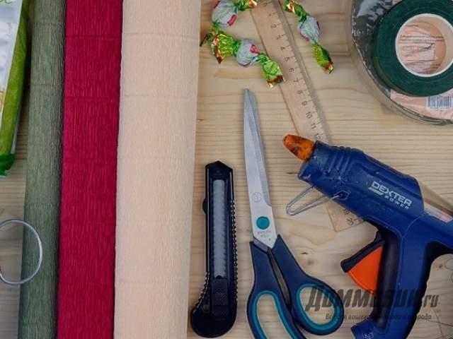 Набор инструментов для букетов из конфет