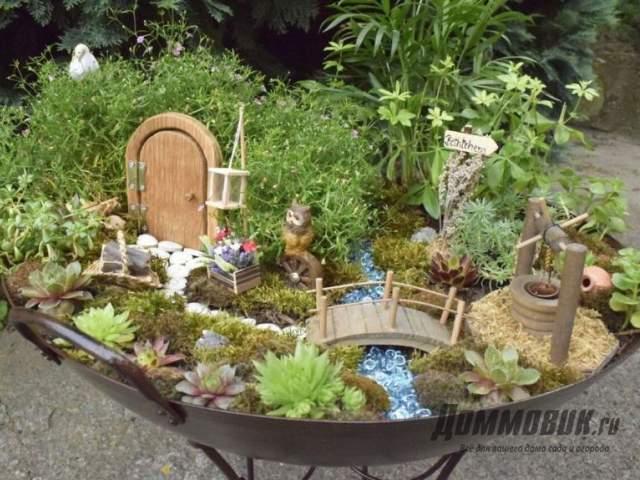мини-сад с ручьем