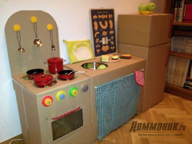 детская кухня из картона