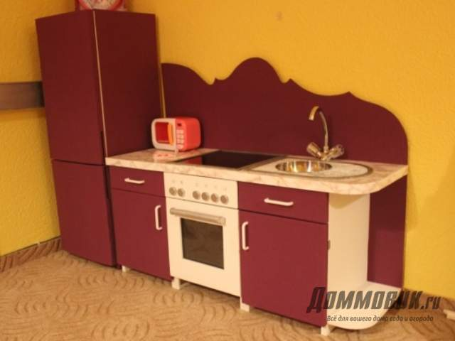 кухня для ребенка из картона