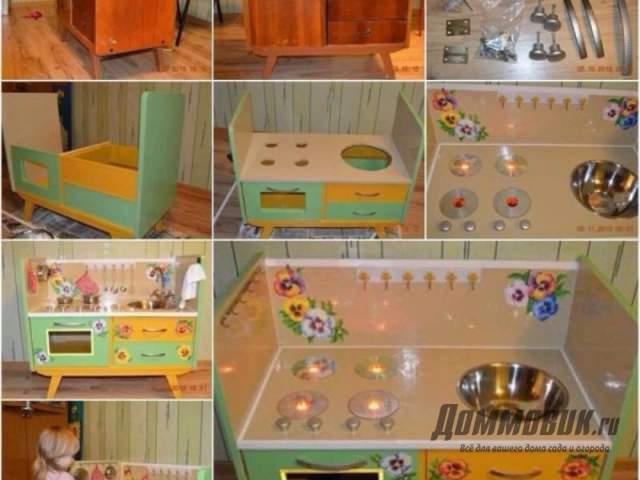 детская кухня из старого комода