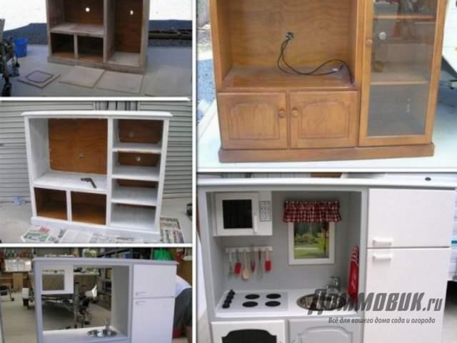 кухня для девочки из старой мебели