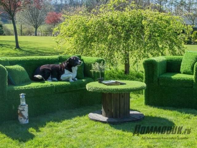 мебель из травы