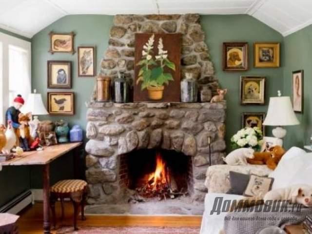 Камин для загородного дома
