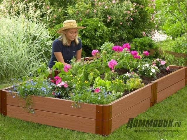 короб для цветника из террасной доски