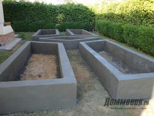 бетонные основания для клумб