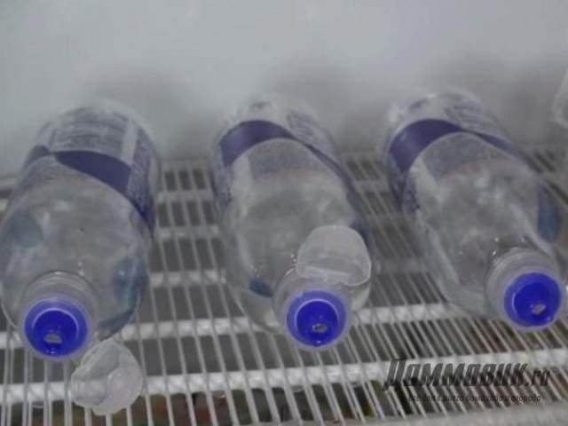 заморозка воды для полива