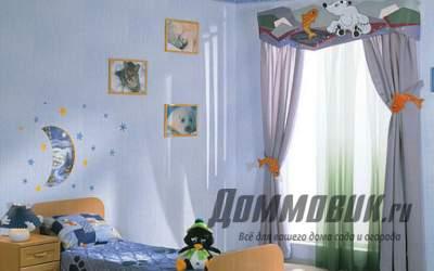 Декорирование детских комнат при помощи карнизов и штор
